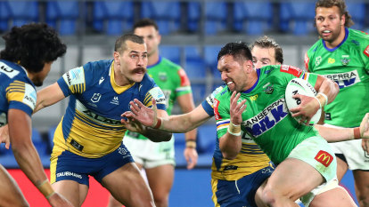Blank canvas the perfect platform for colourful finish as Raiders edge Eels in thriller