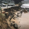 Erosion from surging seas threatens roads, homes and beaches