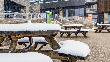 Snow at Falls Creek Resort.