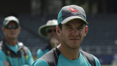 Hot seat: Australian cricket captain Tim Paine.