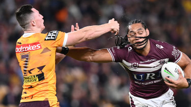 Martin Taupau and the Sea Eagles belted the Broncos.