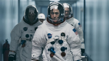 Ryan Gosling as Neil Armstrong in First Man.