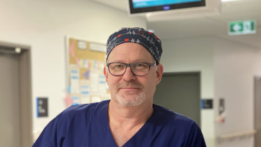 Gold Coast University Hospital director of obstetrics Dr Benjamin Bopp, who helped plan Australia's first coronavirus delivery.
