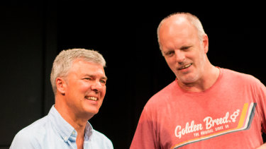 Ian Darling and Greg Fleet, old friends and former theatre kids, in The Twins.