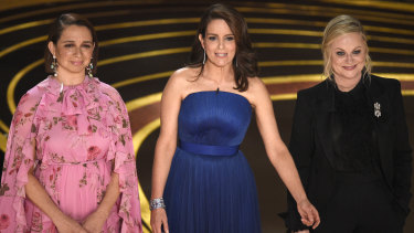 They weren't the hosts, but maybe they should have been. From left, Maya Rudolph, Tina Fey and Amy Poehler.