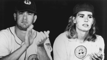 "Tom Hanks and Geena Davis starred in ""A League Of Their Own,"" which was Penny Marshall's second film to gross more than $100m at the US box office."