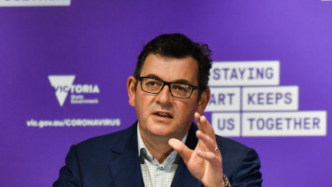 "Premier Daniel Andrews cited expert modelling to justify the state's ""safe, steady and sustainable"" road out of lockdown."
