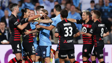 The A-League may be on the lookout for a new broadcast partner.