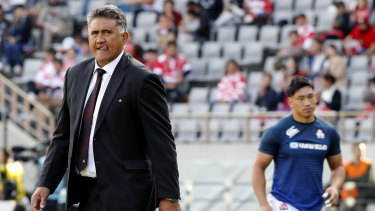 Stirring the pot: Japan coach Jamie Joseph was defiant in the face of Scottish anger.