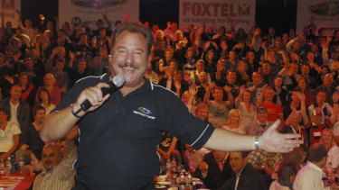 Jeremy Kewley during his time on The Footy Show.