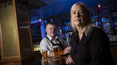 Belgian Beer Cafe proprietors Michael and Susan Burke had to let two staff members go during Melbourne's extended lockdown.