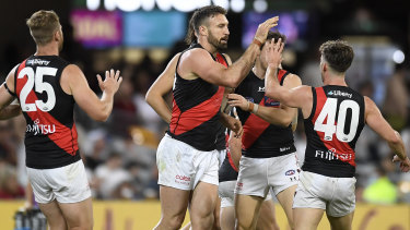 Cale Hooker has been in hot form for the Bombers this season.