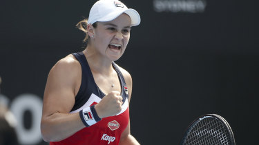 Breakthrough: Ash Barty was able to overcome difficult conditions to defeat the world No.1.