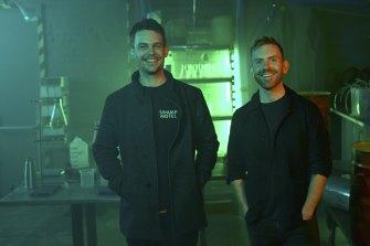 Ollie Jones (L) and CLem Garrity (R) of Swamp Motel, co-creators of the online thriller Isklander Trilogy.
