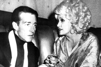 Halston at Studio 54 in 1978 with Dolly Parton.