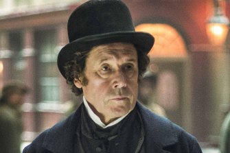 Stephen Rea, playing Inspector Bucket, is among the impressive cast of Tony Jordan's affectionate mash-up of Charles Dickens characters in Dickensian.