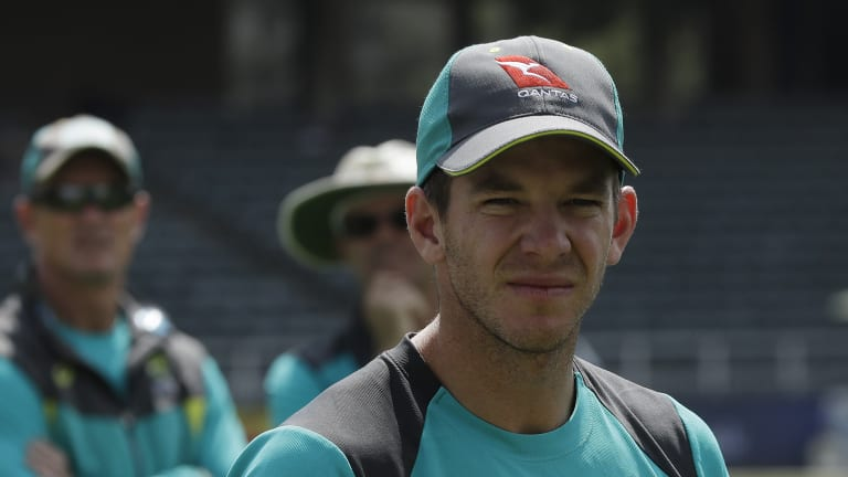 Hot seat: Australian cricket captain Tim Paine.