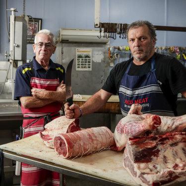 Butchers Mick Cormican and John Clarke from Flint Street Butchery in Forbes.