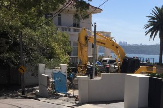 Construction gets underway on the huge redevelopment of one of Sydney's most expensive private estates.