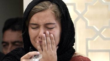 Santa Fe High School student Jaelyn Cogburn was among  mourners at Sabika Sheikh's Stafford funeral.