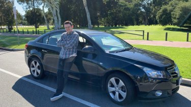 East Perth resident Brandon Secomb decided to list his car on the app to offset costs.