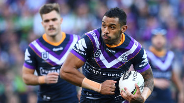 Sickened: Josh Addo-Carr's late error was the catalyst for Melbourne's shock loss.