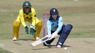 Tammy Beaumont made a century for England.
