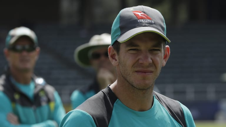 Low-key: Australian captain Tim Paine expressed his delight at the team's effort to grind out a draw.