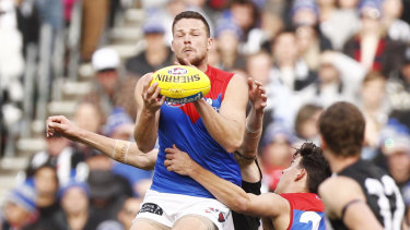Steven May was good in his return to footy for the Demons.