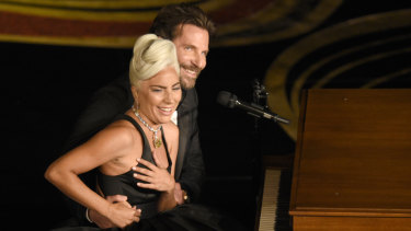 Lady Gaga and Bradley Cooper performed too intensely for some at the Oscars.