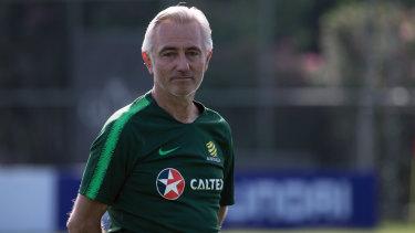Inspiration: Australian Socceroos coach Bert van Marwijk in Antalya.