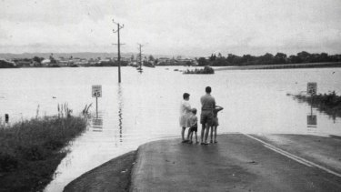 Hawkesbury River flood, June 1977.