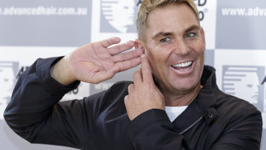 Shane Warne has enjoyed a long-term relationship with Advanced Hair.