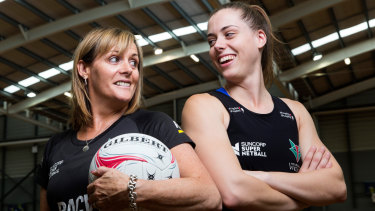 Tayla Honey (right) with her mother Di, who is now head coach of the Victorian Fury.