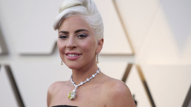 Lady Gaga wearing the Tiffany Diamond at the 91st Academy Awards.