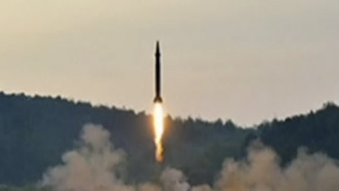 A Hwasong-5 type ballistic missile launched in North Korea.