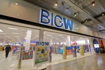 Big W sales rose 20.1 per cent to $2.5 billion.
