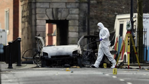 Two arrested after car bomb attack in Londonderry, Northern Ireland