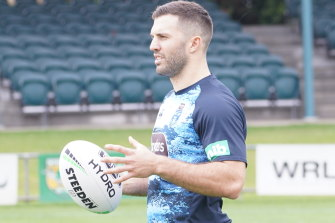 James Tedesco was on restricted duties at NSW Blues training on Tuesday.