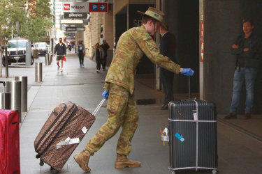 Travellers have been sent  to hotels for a two-week quarantine period.