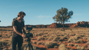 Dylan River filming Finke: There and Back.