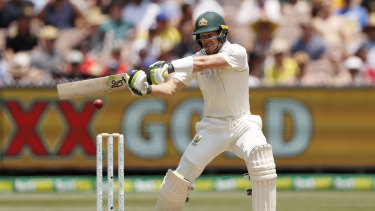 Tim Paine takes an aggressive approach against the Black Caps attack on day two.