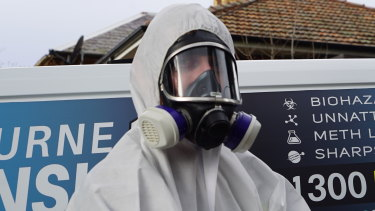 Meth Lab Cleaners Australia director Josh Marsden, who says methamphetamine contamination in some houses is so bad, everything has to be stripped out and replaced.