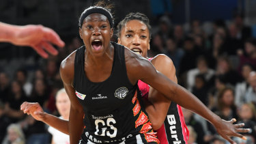 The Magpies have clearly been working on their delivery to Shimona Nelson and her ability to take the ball strongly.