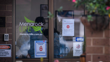 Menarock Life aged care facility in Essendon, in Melbourne's north, has seen a number of COVID-19 cases.