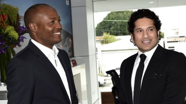 File photo of Brian Lara and Sachin Tendulkar, who will feature in a new T20 tournament.