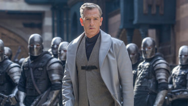Ben Mendelsohn's character looks like he belongs in the Star Wars universe, not medieval England.