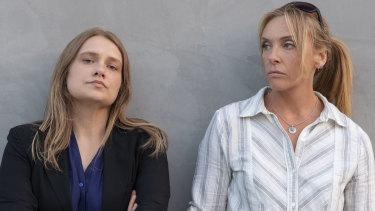 Unbelievable starring Merritt Weaver, left, and Toni Collette.