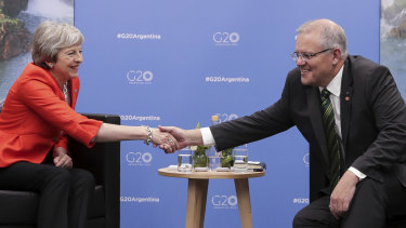 An Australian deal with the United Kingdom must wait until the country finalises negotiations to leave the European Union.