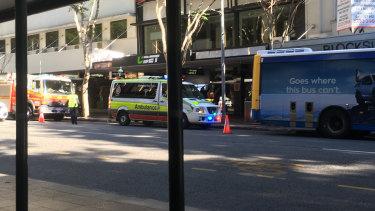 The pedestrian was hit in Brisbane's CBD during peak hour.
